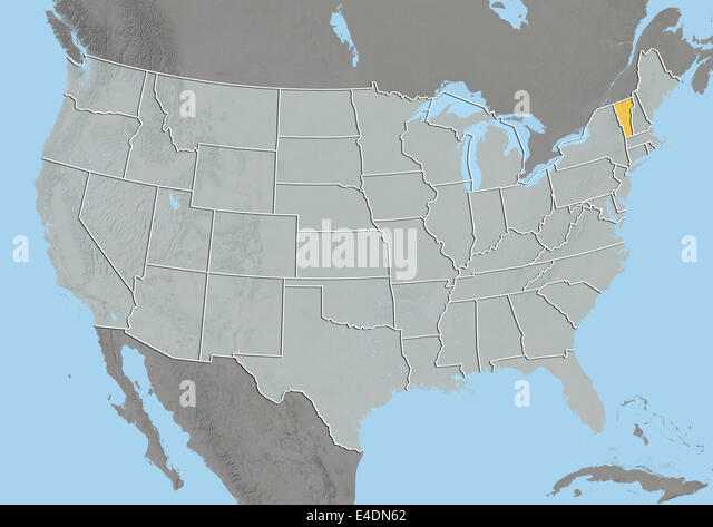 Vermont State Map Stock Photos Vermont State Map Stock Images - United states map vermont