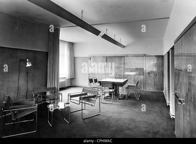 interior decoration in the bauhaus style stock image