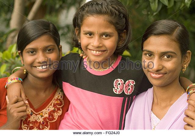 Teen girls having fun in beed