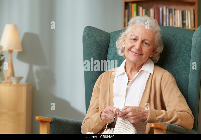 Old Lady Knitting Images : Old women knitting stock photos