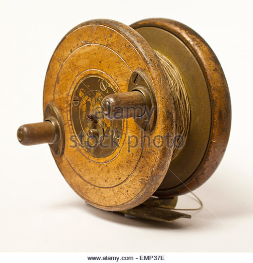 Antique fishing reel stock photos antique fishing reel for Antique fishing reels