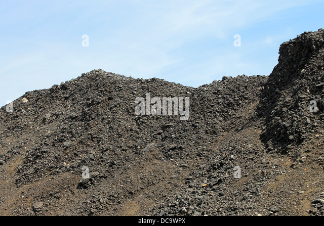 Coal Slag Rock : Coal slag heap stock photos images