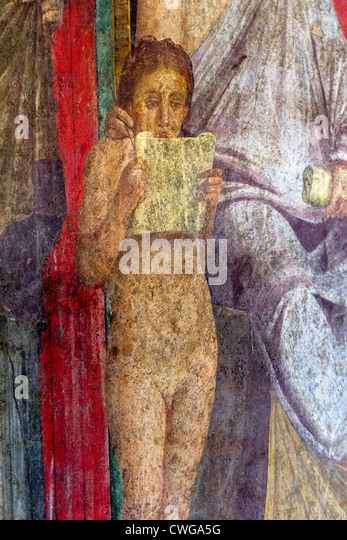 House of mysteries stock photos house of mysteries stock for Ancient roman mural