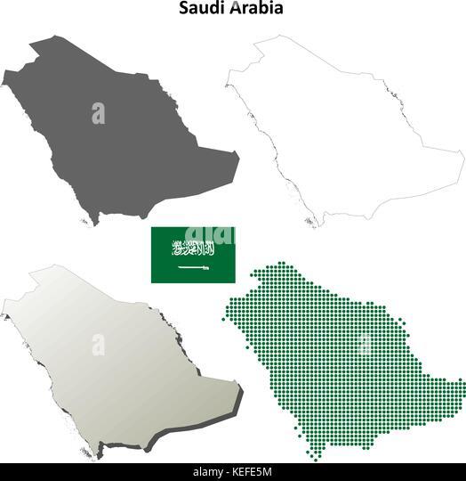 Saudi Arabia Map Vector Stock Photos  Saudi Arabia Map Vector