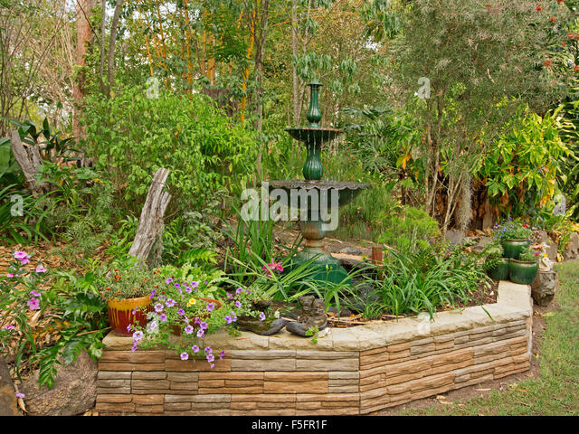 Stone containers stock photos stone containers stock for Ornamental garden features