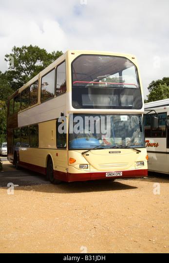 scania omni dekka bus 2004 swedish stock image