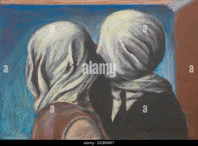 Magritte painting stock photos magritte painting stock for Rene magritte le faux miroir