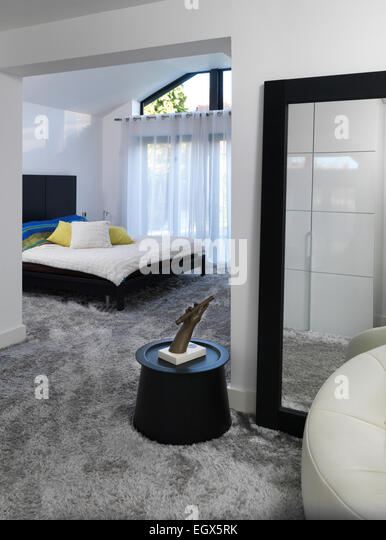Full length mirror bedroom stock photos full length for Dressing area in bedroom
