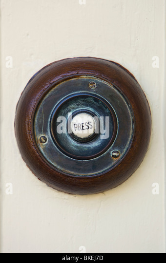 Old Fashioned Door Bell Button   Stock Image