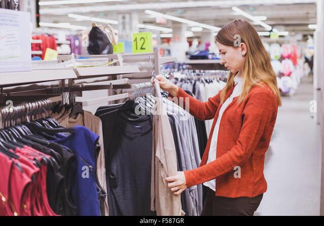 In store clothing sales this week