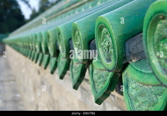 Roof Tiles Chinese Detail Stock Photos Amp Roof Tiles