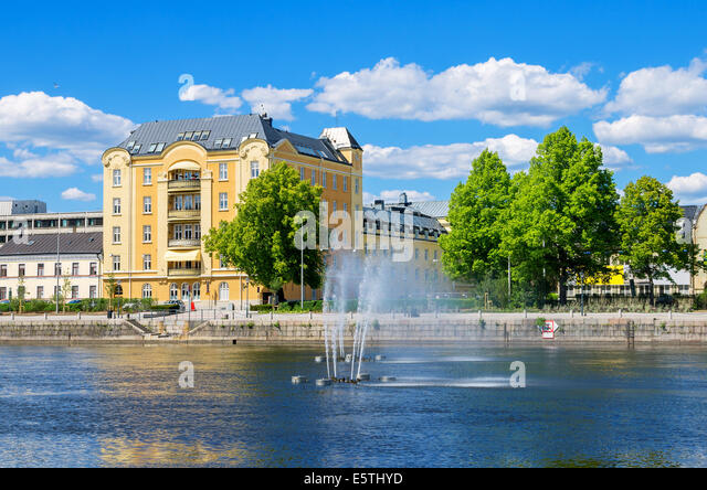 Norrkoping, Sweden - July 14, 2010: Downtown Norrkoping And Motala ...