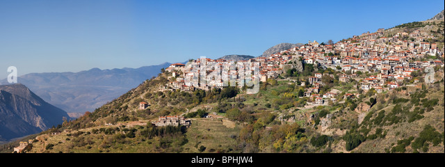Mountain Village Arachova Greece Stock Photos & Mountain ...