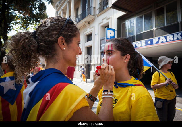 Barcelona Spain 11th September 2014 Stock Photos ...