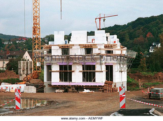 Einfamilienhaus baustelle stock photos einfamilienhaus for Baustile einfamilienhaus