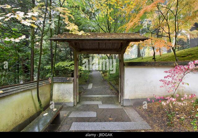 Superieur Garden, Stone, Goal, Passage, Gate, Archgway, Gantry, Japanese,