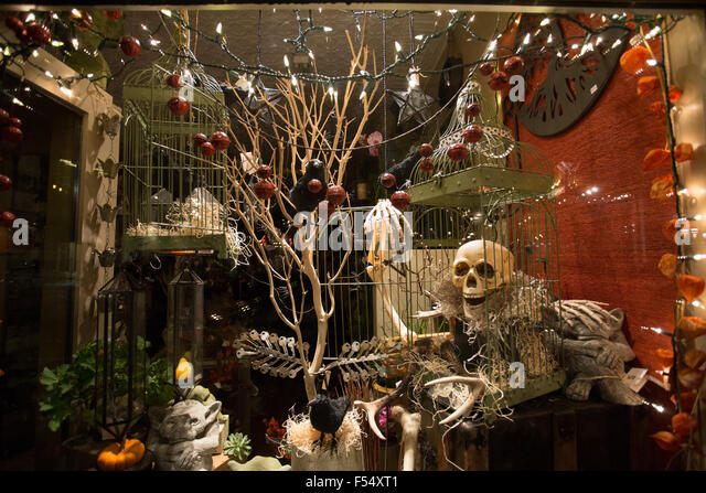 halloween decoration store window stock image halloween decorations near me - Halloween Decoration Stores Near Me