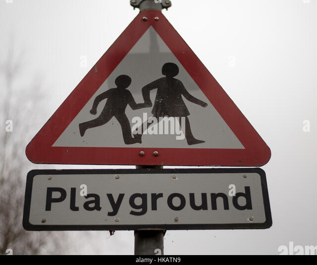Traffic Sign Children Playing Stock Photos & Traffic Sign ...