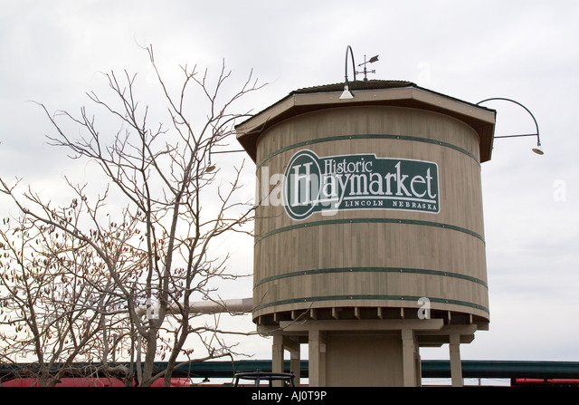 Lincoln Nebraska NE USA The Historic Haymarket District   Stock Image