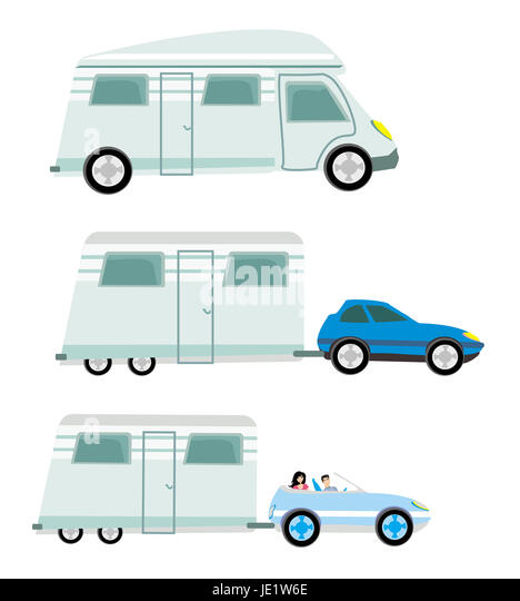 Large Car Trailer Vector Illustration Stock Photos & Large Car ...