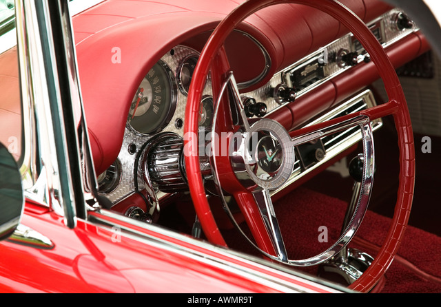 red car dashboard old classic stock photos red car dashboard old classic stock images alamy. Black Bedroom Furniture Sets. Home Design Ideas