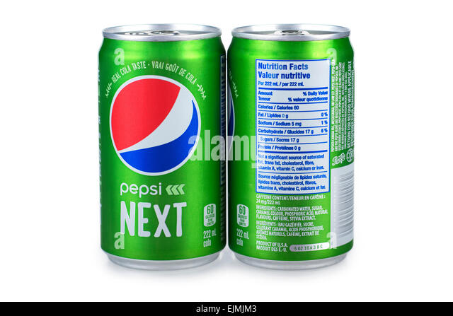 Diet Pepsi Nutrition Facts 12 Oz