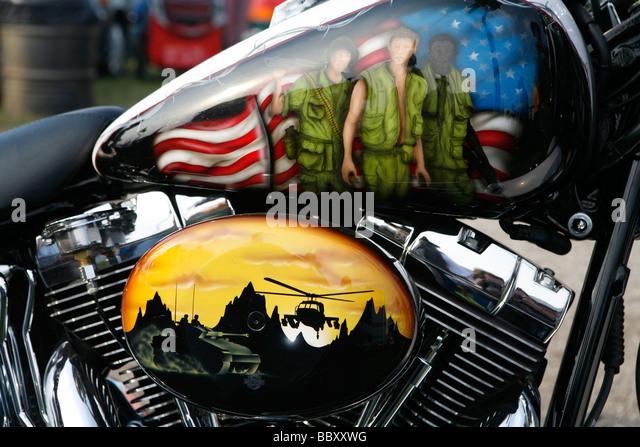Airbrushed Motorcycle Tank Stock Photos Amp Airbrushed
