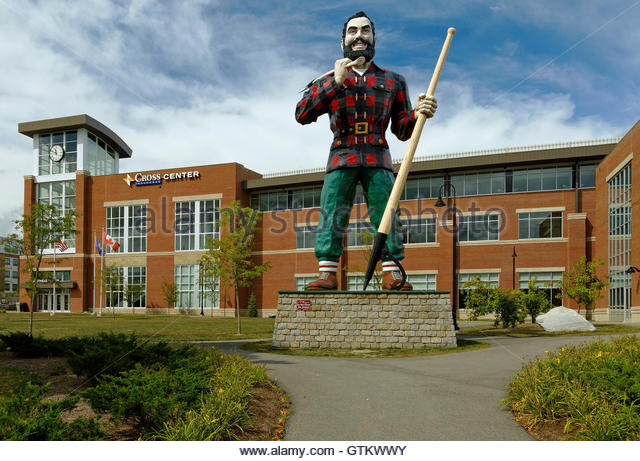 Paul Bunyan Statue Stock Photos Paul Bunyan Statue Stock Images - Paul bunyan in us map