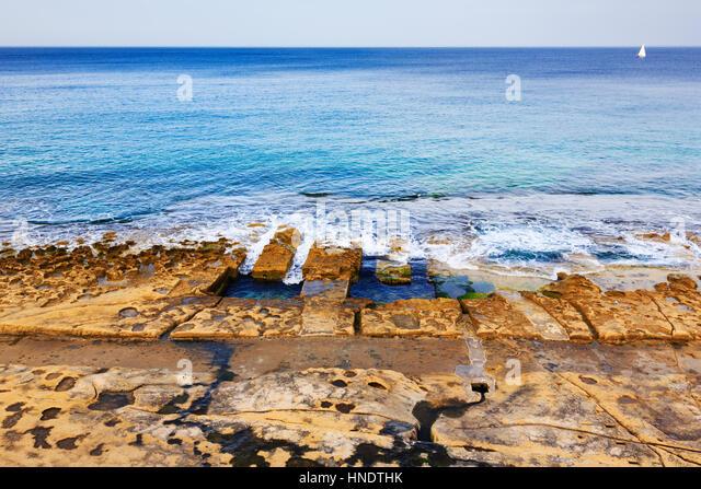 Sliema bay stock photos sliema bay stock images alamy for Pool design malta