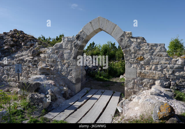 Ruins of Virtsu fortified manor, vassal, stronghold. Estonia 14th July 2017 - Stock Image