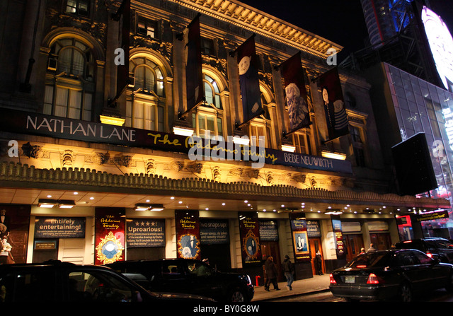 An Off-Broadway theatre is any professional venue in Manhattan in New York City with a seating capacity between and , inclusive. These theatres are smaller than Broadway theatres, but larger than Off-Off-Broadway theatres, which seat fewer than