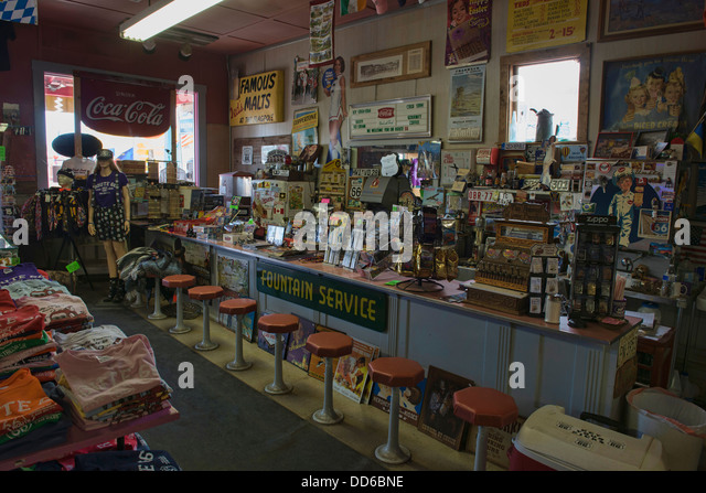 Historic drug store stock photos historic drug store for Old fashioned pharmacy soda fountain