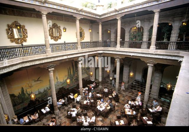 Azulejos tiles cafe stock photos azulejos tiles cafe for House of tiles mexico city
