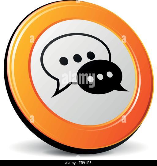 Chat vectors stock photos chat vectors stock images alamy - Chat orange ...