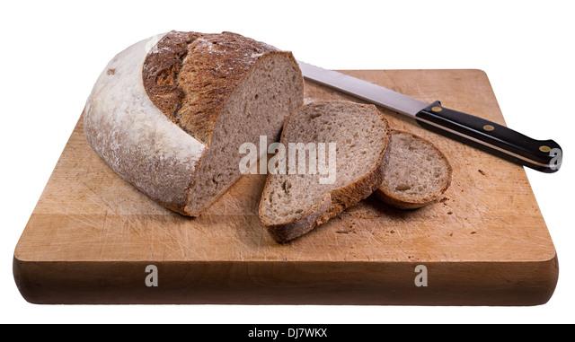 Cut Loaf Of Artisan Made Soda Bread Uk Stock Image