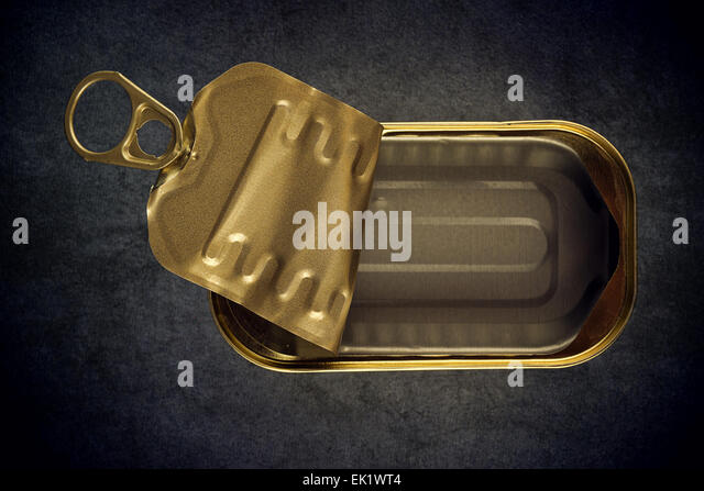 Empty Sardine Cans Of Aluminum Product Stock Photos Aluminum Product Stock