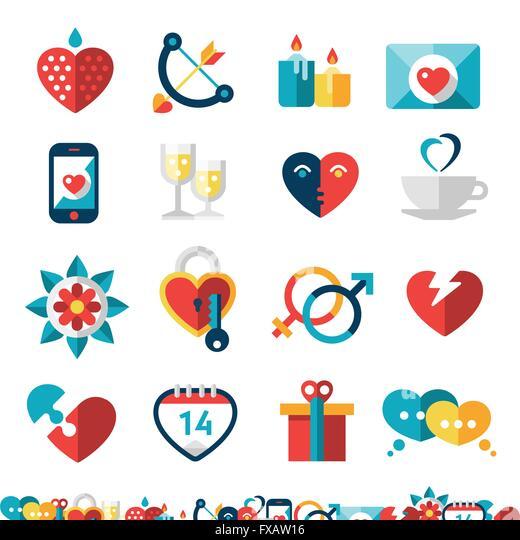 Dating Icon Set - Stock Image