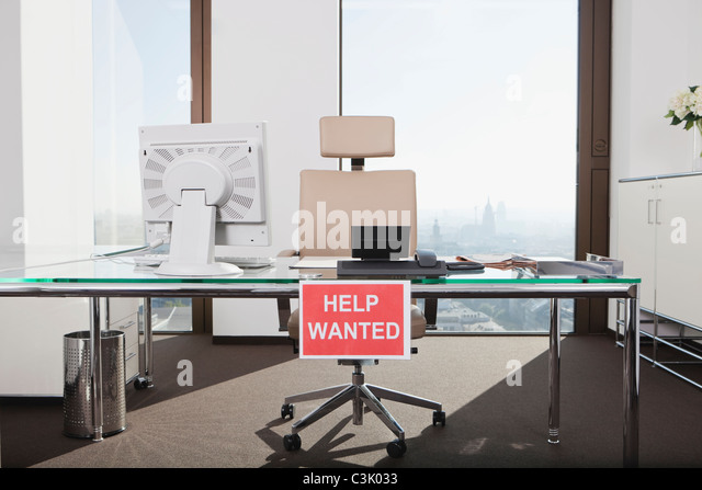 Germany Frankfurt Help Wanted Text Sign In Office