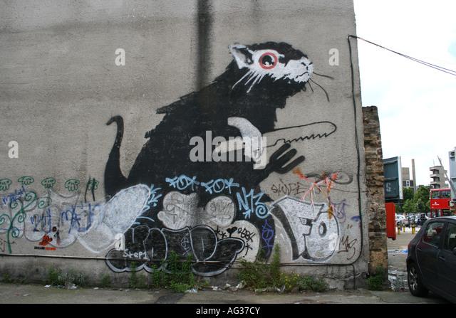 Banksy stock photos banksy stock images alamy for Banksy rat mural