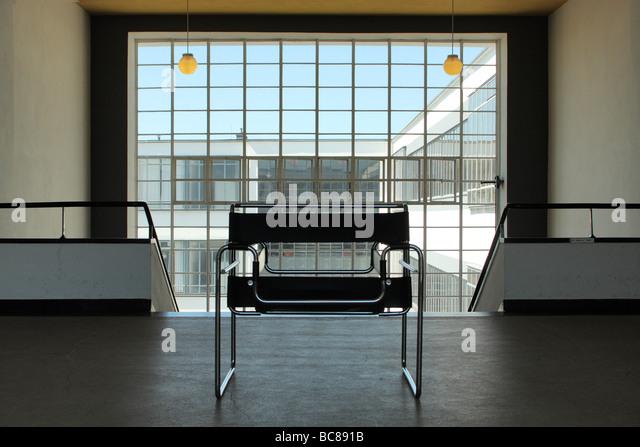 bauhaus design interior exterior dessau germany stock image