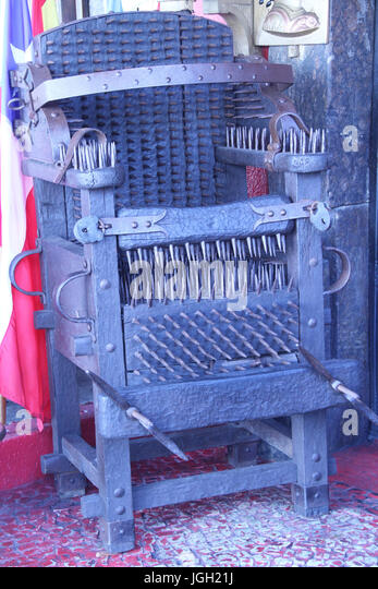 Torture Chair Inquisitorial Chair 2016 Rio de Janeiro Brazil. - Stock & Torture Chair Stock Photos u0026 Torture Chair Stock Images - Alamy