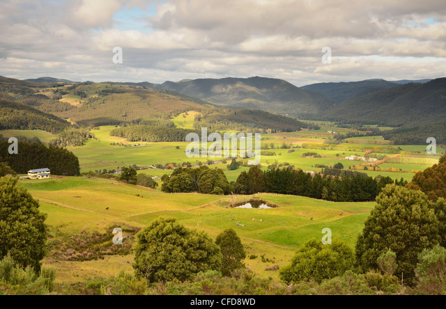 Gunns Plains Australia  city pictures gallery : View of Leven Valley, Gunns Plains, Tasmania, Australia, Pacific ...