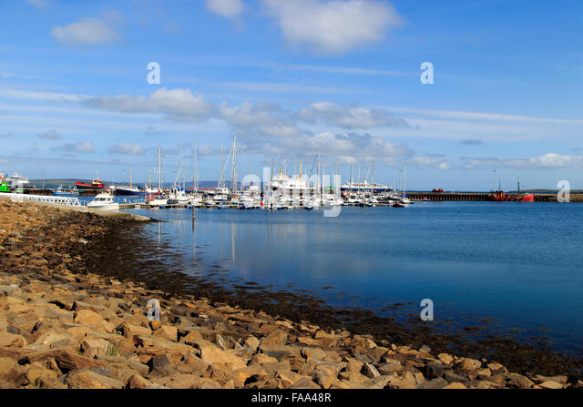 Scotland Archipelago Island Mainland Kirkwall Stock Photos