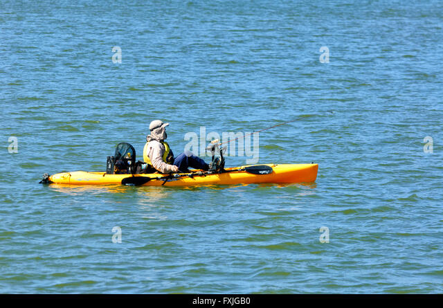 Kayak fishing stock photos kayak fishing stock images for Sea fishing kayak
