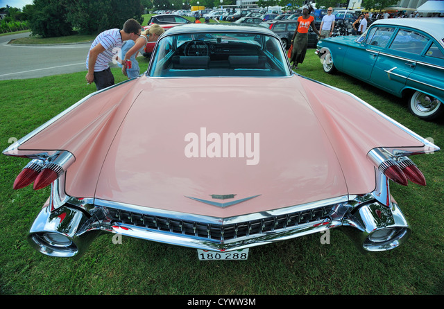 Classic Car Show Fins Stock Photos Classic Car Show Fins