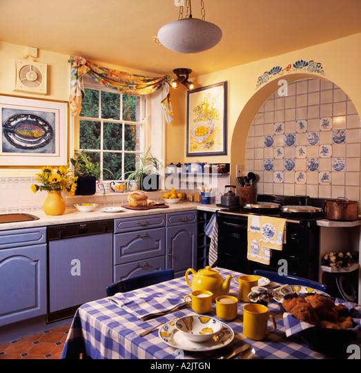 Interiors Kitchen Aga Traditional Stock Photos Interiors