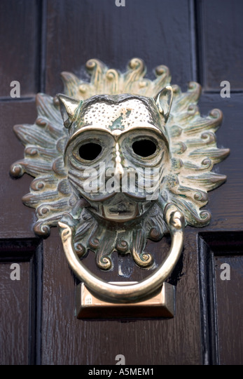 Ornate Door Knocker Pimlico London England   Stock Image