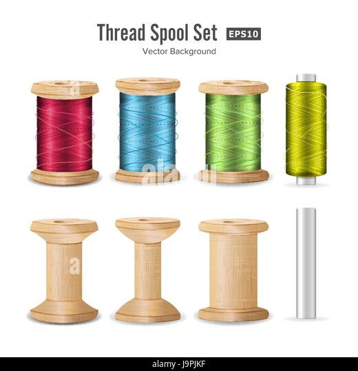 Spool Cotton Reel Stock Vector Images - Alamy