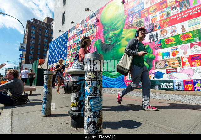 Deitch stock photos deitch stock images alamy for Bowery mural nyc