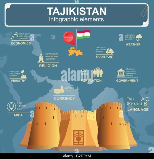 Tajikistan Map Vector Stock Photos Tajikistan Map Vector Stock - Tajikistan map vector
